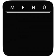 Pizarra adhesiva colores menu + rotulador